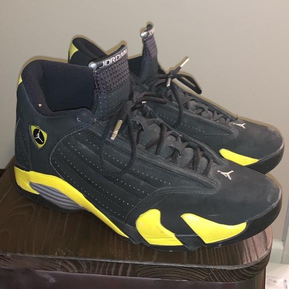 online store f12c1 dbd7c JORDAN 14 Ferrari black and yellow 100% authentic